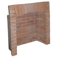 Red 4-Piece Brick Chamber with Arch
